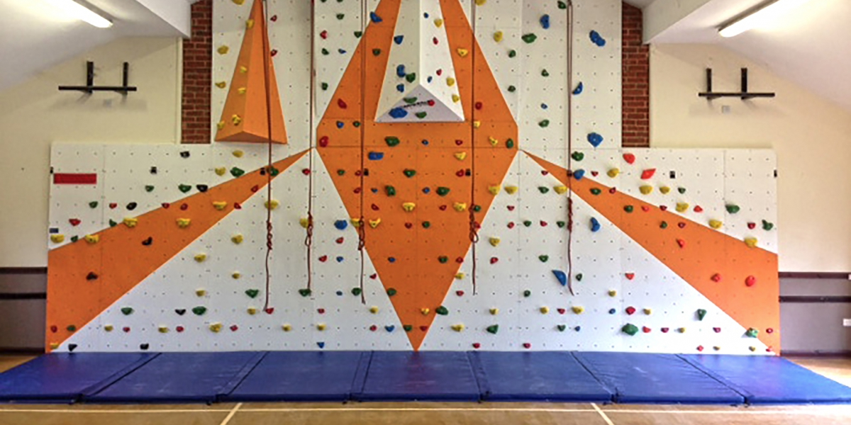 A large complex climbling wall
